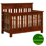 Amish 4 in 1 Convertible Baby Crib - Houston