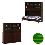 Amish Landon Bookcase Murphy Bed