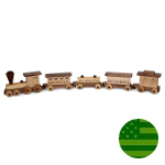Amish Large Maple ABC Train Set