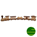 Amish Large Maple Train Set