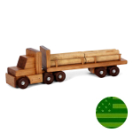Amish Log Trailer Truck Set