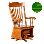 Amish Logan Swivel Glider