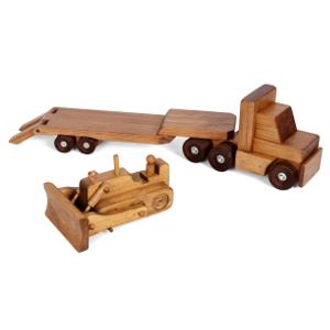 Amish Low Boy Truck & Bulldozer