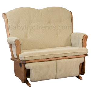 Amish Madison Loveseat Glider With Flip Out Footrest | Solid Wood Nursery  Furniture | Baby Eco Trends