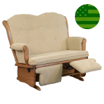 Amish Madison Loveseat Glider with Filp-out Footrest