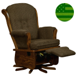 Amish Madison Swivel Glider with Flip-out Footrest
