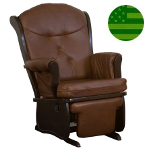 Amish Madison Glider with Flip-out Footrest