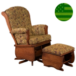 Amish Madison Swivel Glider