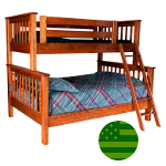 Amish Makenzie Twin & Full Bunk Bed