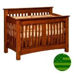 Amish McCoy 4 in 1 Convertible Baby Crib