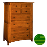 Amish McCoy 8 Drawer Chest