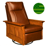 Amish McCoy Swivel Rocker Recliner