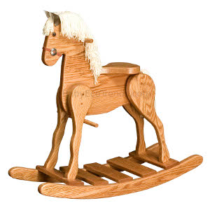 Amish Child's Deluxe Rocking Horse - Medium