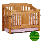 Amish Meridian 4 in 1 Convertible Baby Crib