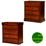 Amish Reversible 4 Drawer Baby Changing Dresser