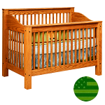 Amish 4 in 1 Convertible Baby Crib - Mission