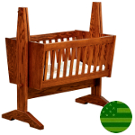 Amish Mission Baby Cradle