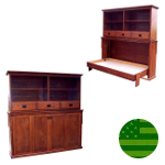 Amish Mission Bookcase Murphy Bed