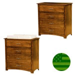 Amish Monterey 4 Drawer Baby Changer / Dresser