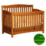 Amish 4 in 1 Convertible Baby Crib - Monterey