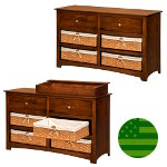 Amish Monterey 6 Drawer Baby Changer / Dresser