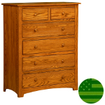 Amish Monterey 6 Drawer Chest