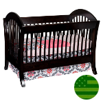 Amish 4 in 1 Convertible Baby Crib - Pacifica