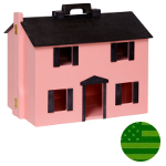 Amish Pink Folding Doll House