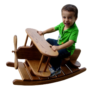 Amish Child's Airplane Rocker