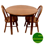 Amish Child's Table & Bow Back Chairs Set