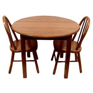 z 6-26-14 Amish Child's Table & Bow Back Chairs Set - NO LONGER AVAILABLE