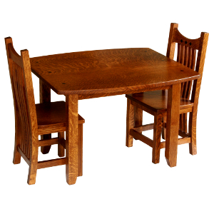 Amish Royal Mission Child's Table & Two Chairs Set - Email for prices