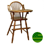 Amish Sheaf Baby High Chair with Straight Legs