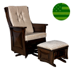 Amish Skye Panel Swivel Glider