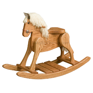 Amish Child's Deluxe Rocking Horse - Small