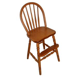 z 6-26-14 Amish Bow Back Youth Chair with Turned Legs - NO LONGER AVAILABLE