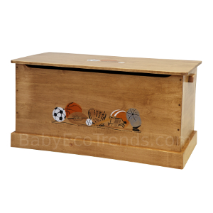 Amish Small Sports Stenciled Toy Box