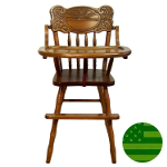 Amish Sunburst Baby High Chair