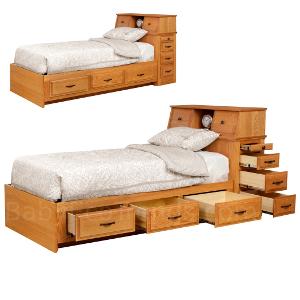 Amish Tyler Storage Platform Bed Usa Made Children S