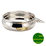 Sterling Silver Beaded Baby Porringer