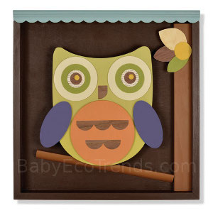 Shadowbox Wall Art - Tree Owl