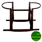 Large Rocking Moses Basket Stand - Espresso