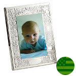 Sterling Silver Birth Record Frame