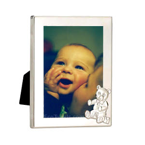 z 12-3-13 Sterling Silver Teddy Bear Frame - NO LONGER AVAILALBE