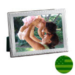 Sterling Silver Beaded Picture Frame