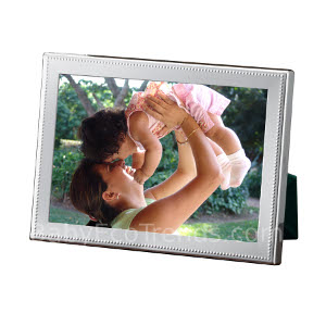 z 12-2-13 Sterling Silver Beaded Picture Frame - NO LONGER AVAILALBE