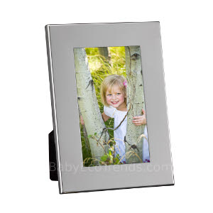 z 12-2-13 Sterling Silver Wide Border Picture Frame - NO LONGER AVAILALBE