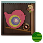 Shadowbox Wall Art - Mama Bird