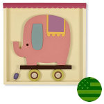 Shadowbox Wall Art - Pink Elephant