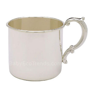 z 12-2-13 Sterling Silver Baby Cup - Hollow Handle - NO LONGER AVAILALBE